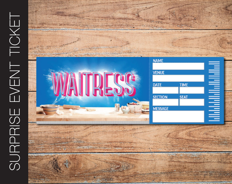 Printable Waitress Broadway Show Gift Reveal - Kaci Bella Designs