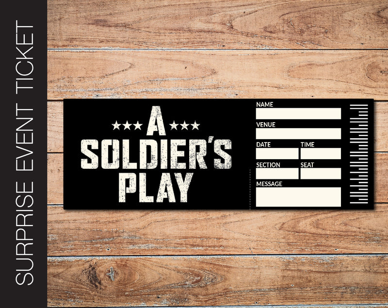 Printable A Soldiers Play Broadway Show Gift Reveal - Kaci Bella Designs