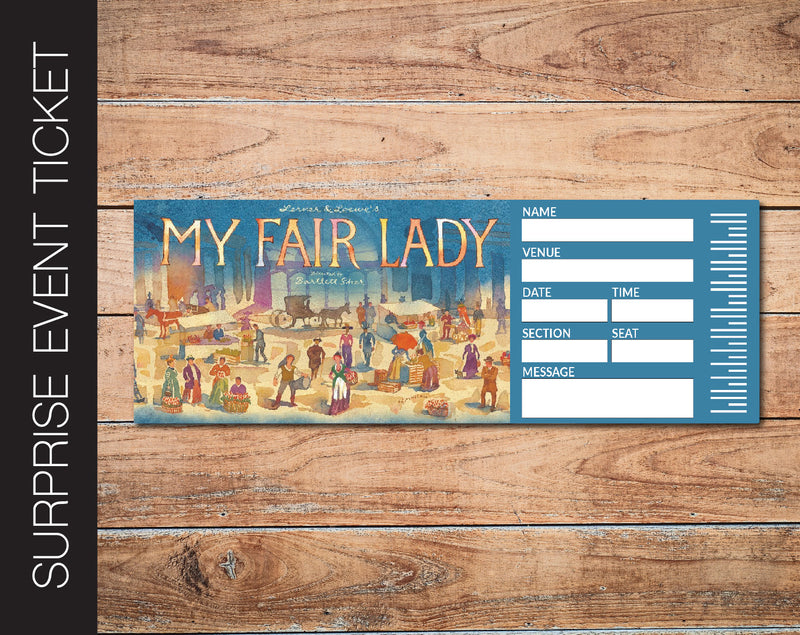 Printable My Fair Lady Broadway Show Gift Reveal - Kaci Bella Designs