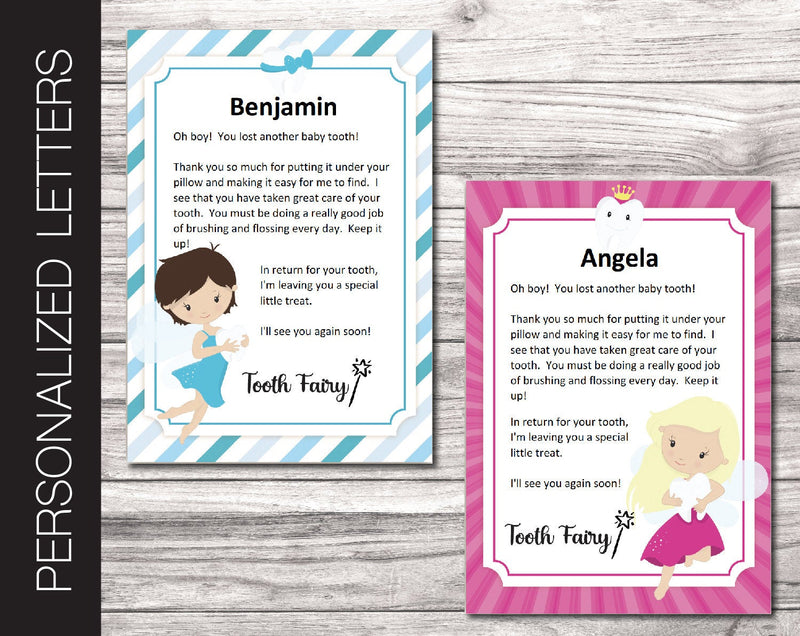 Printable Tooth Fairy Personalized Letters - Kaci Bella Designs