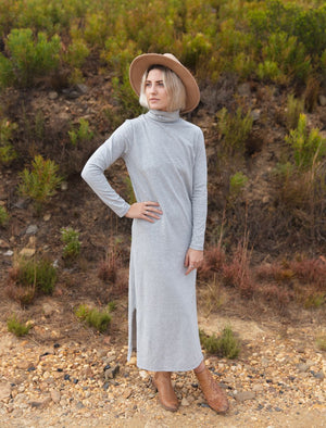 Maxi Polo Neck Dress