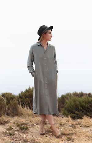 Shirt Dress with Collar