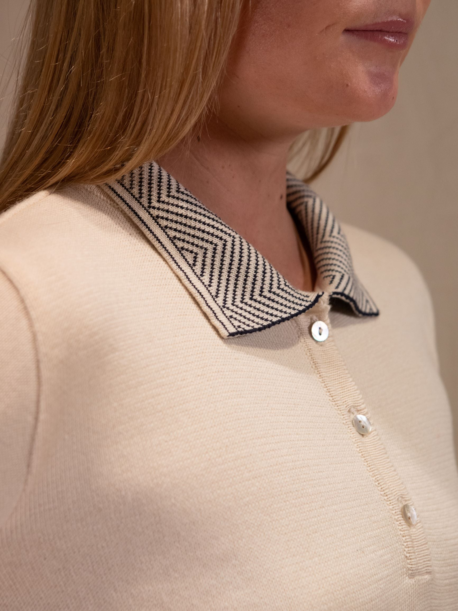 Collared Knit With Placket