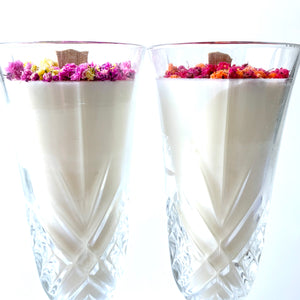 Twin Champagne Candles