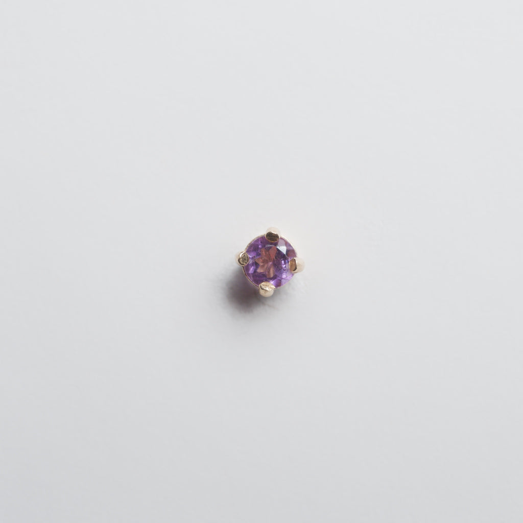 Single Stud — Light Amethyst