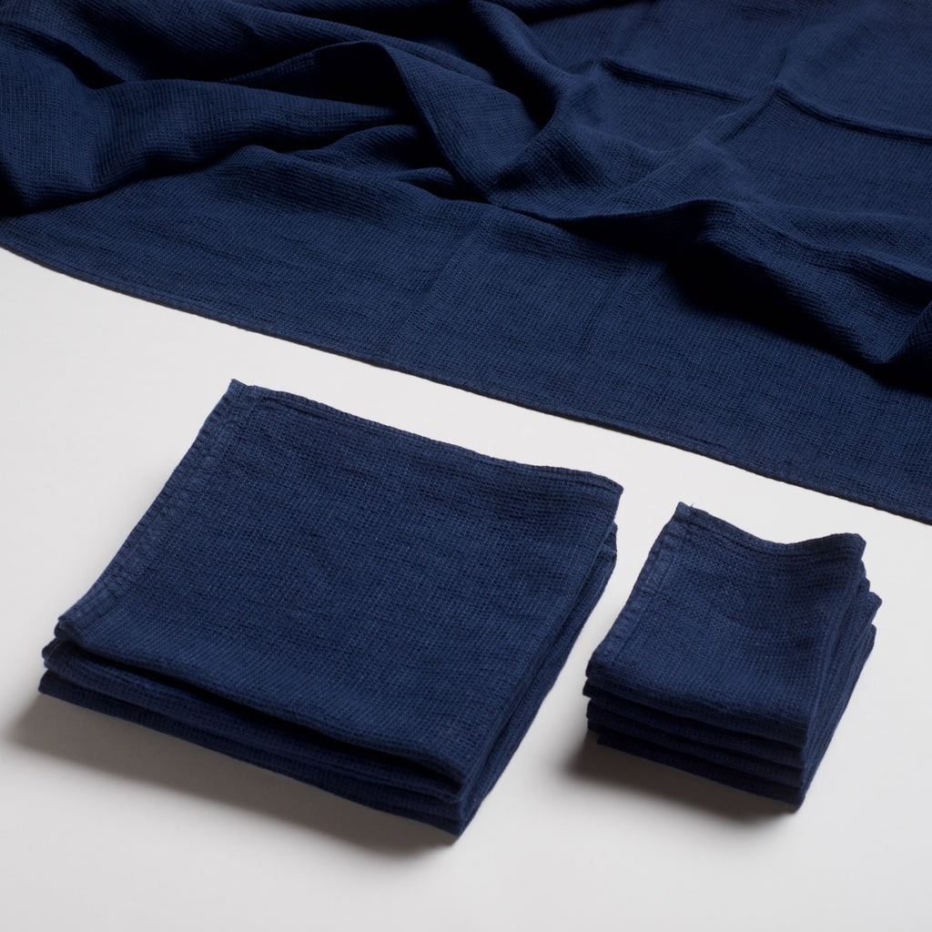 Linen Spa Towel - Indigo