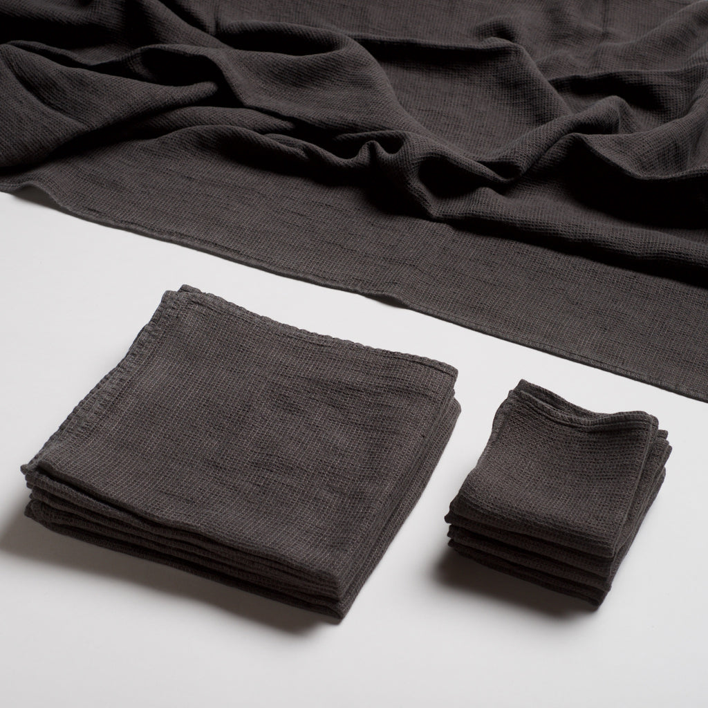 Linen Spa Towel - Charcoal