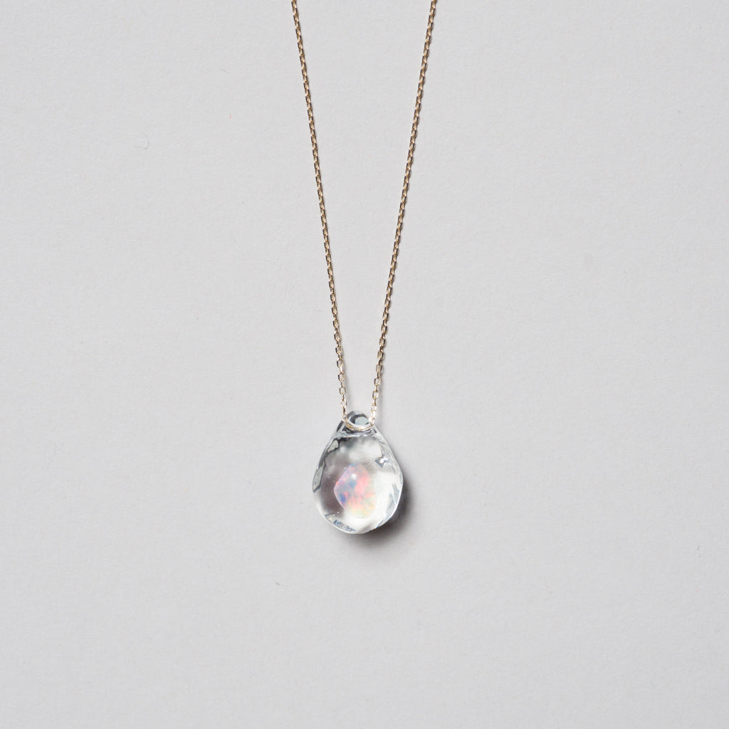 Suspension Drop Opal Necklace