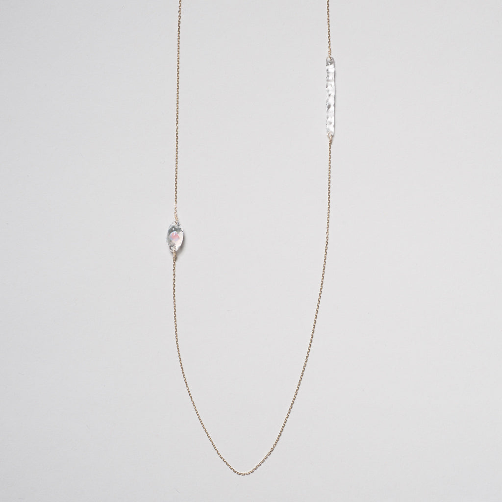 Asymmetrical Suspension Opal Necklace