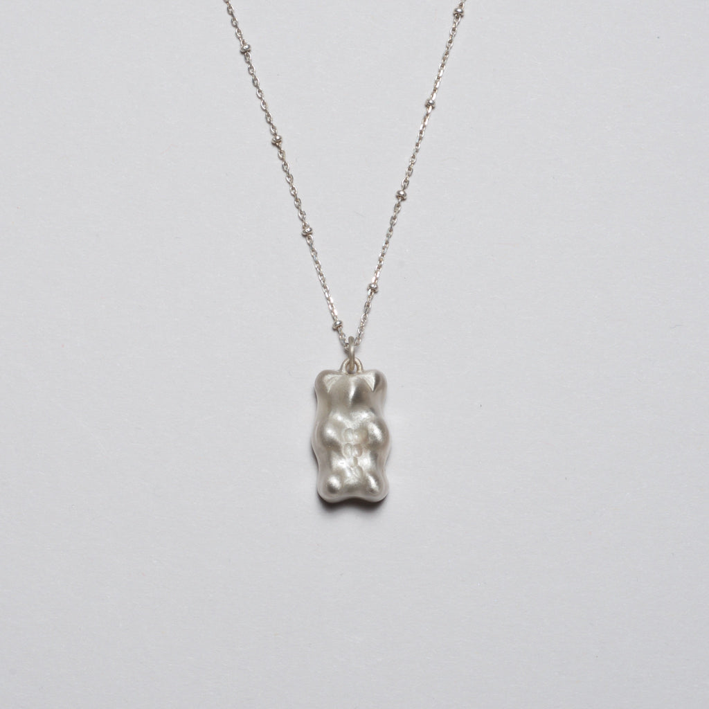 Gummy Bear Necklace - Silver