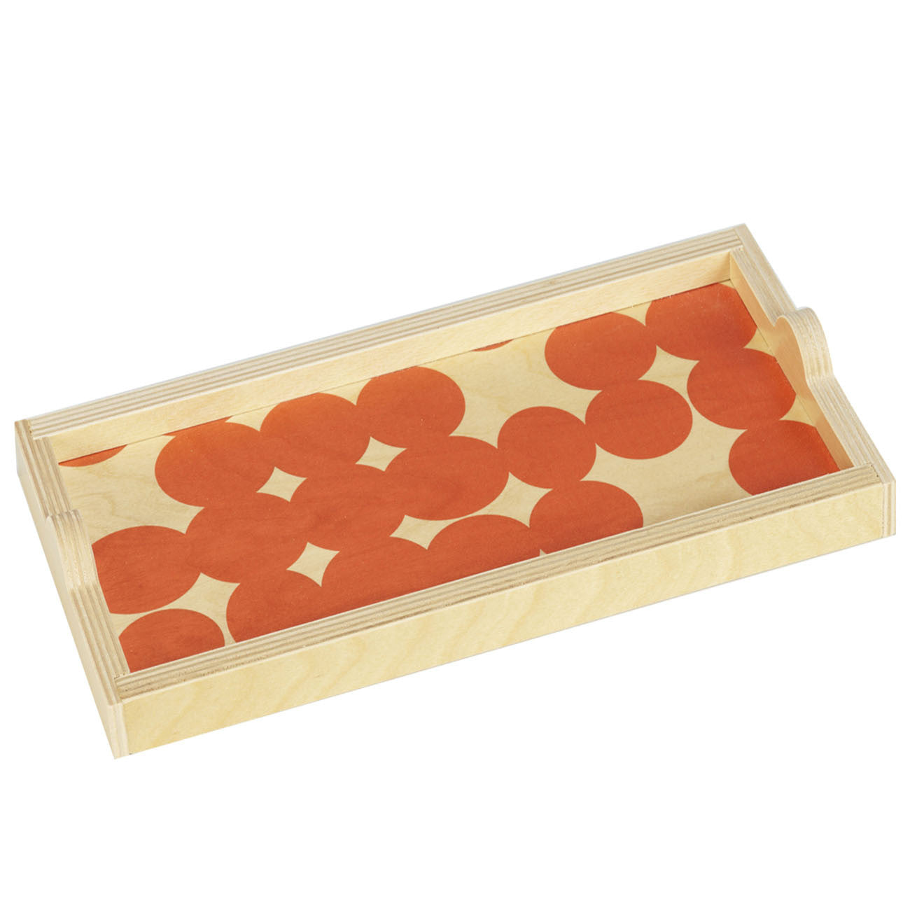 orange dot mini tray
