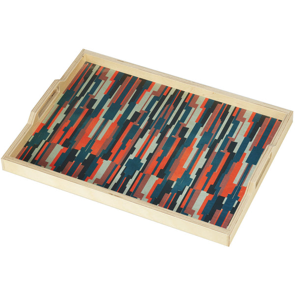 annie teal serving tray