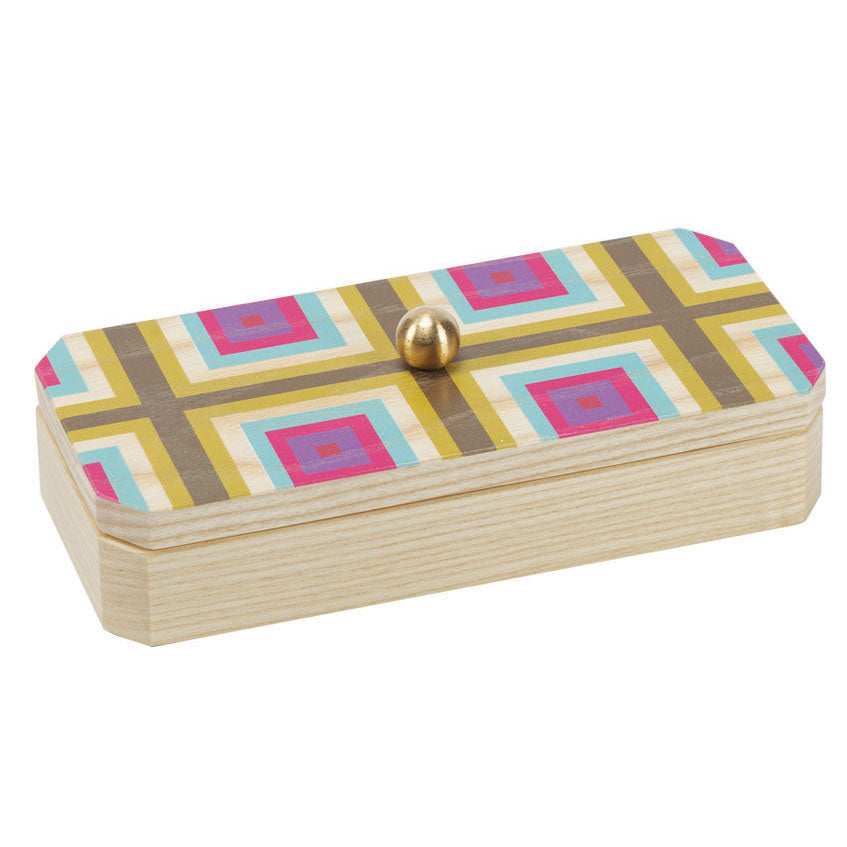 squaresville yellow solid ash accent box