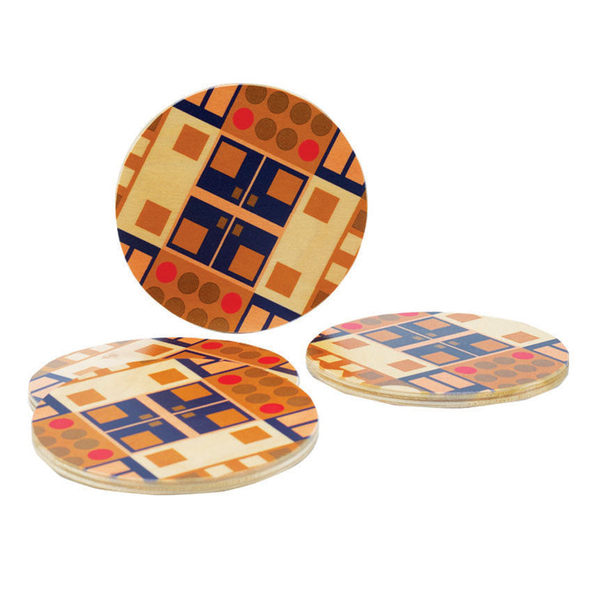 alexander olive coasters, set of four