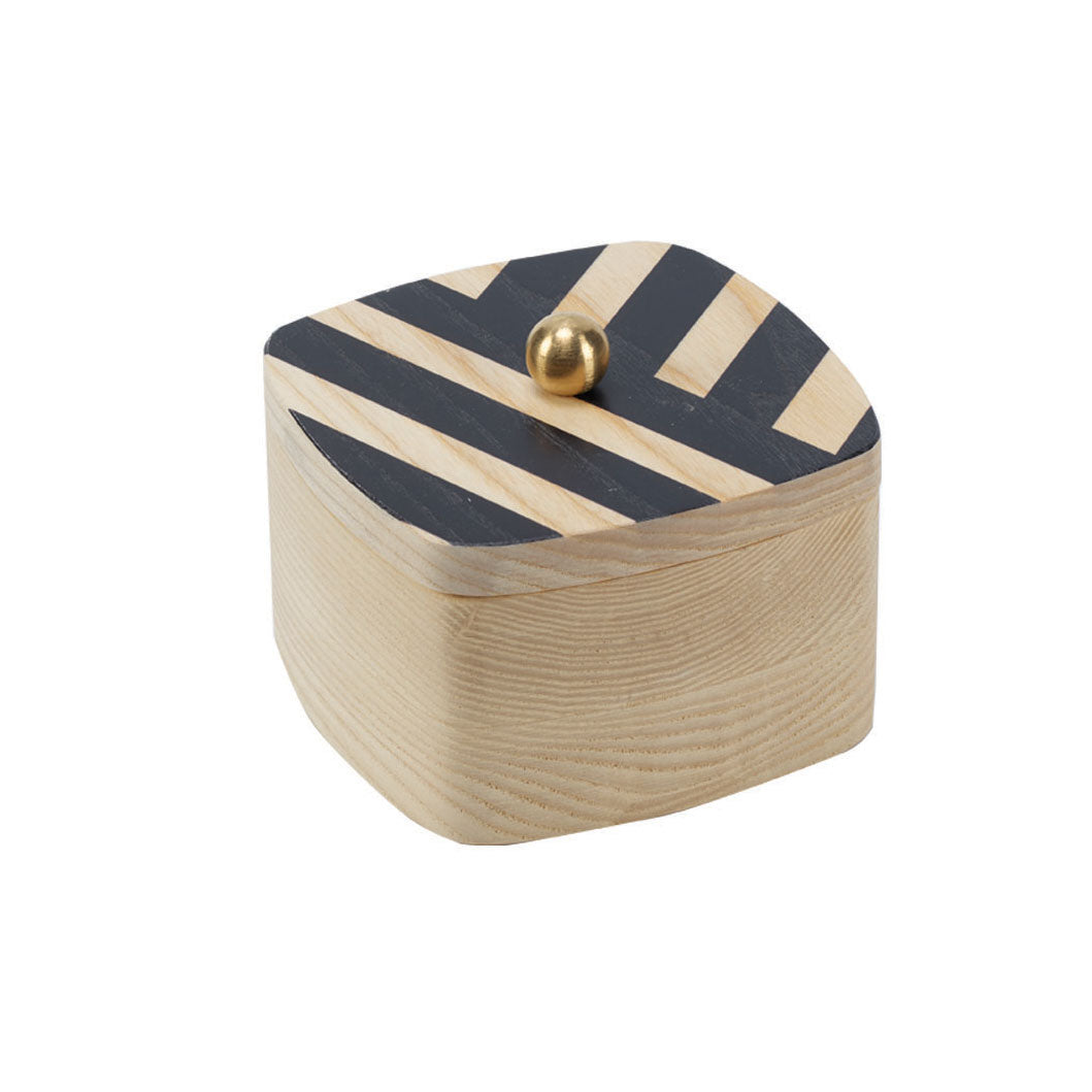black stripe solid ash accent box