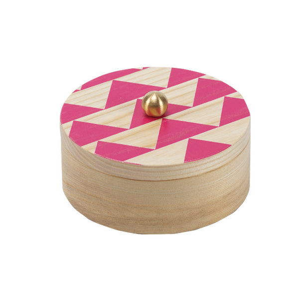 jett pink solid ash accent box