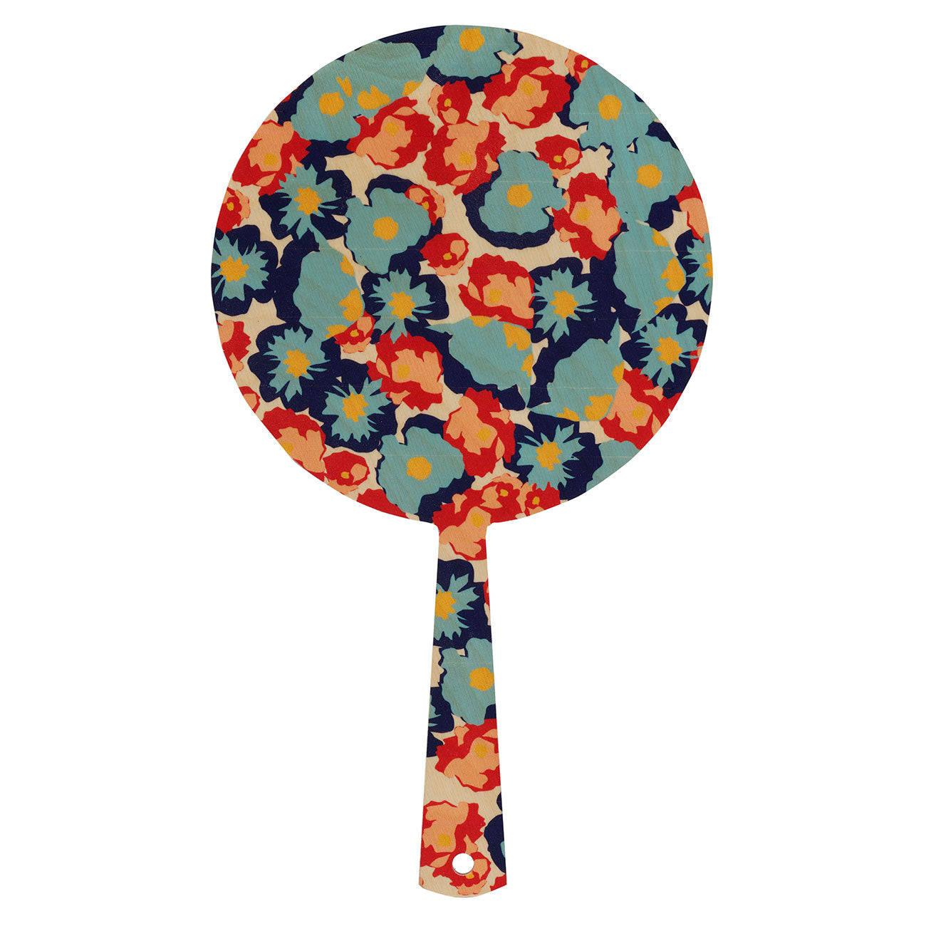 poppy navy hand mirror