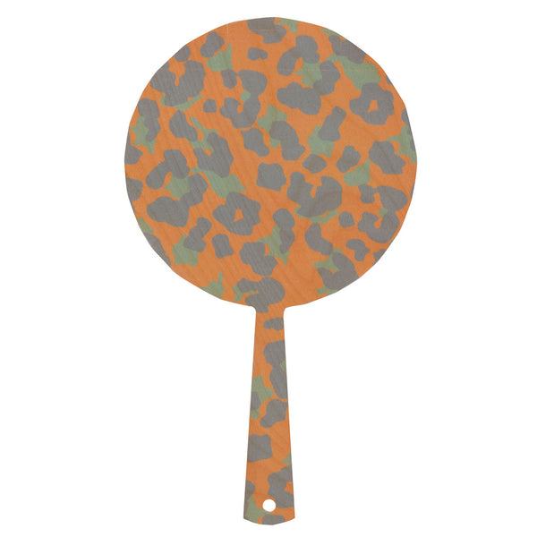 cheetah peach hand mirror