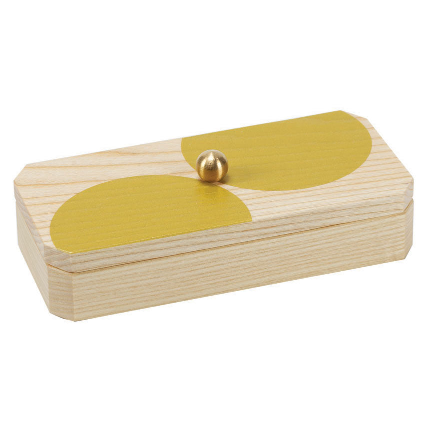 yellow dot solid ash accent box