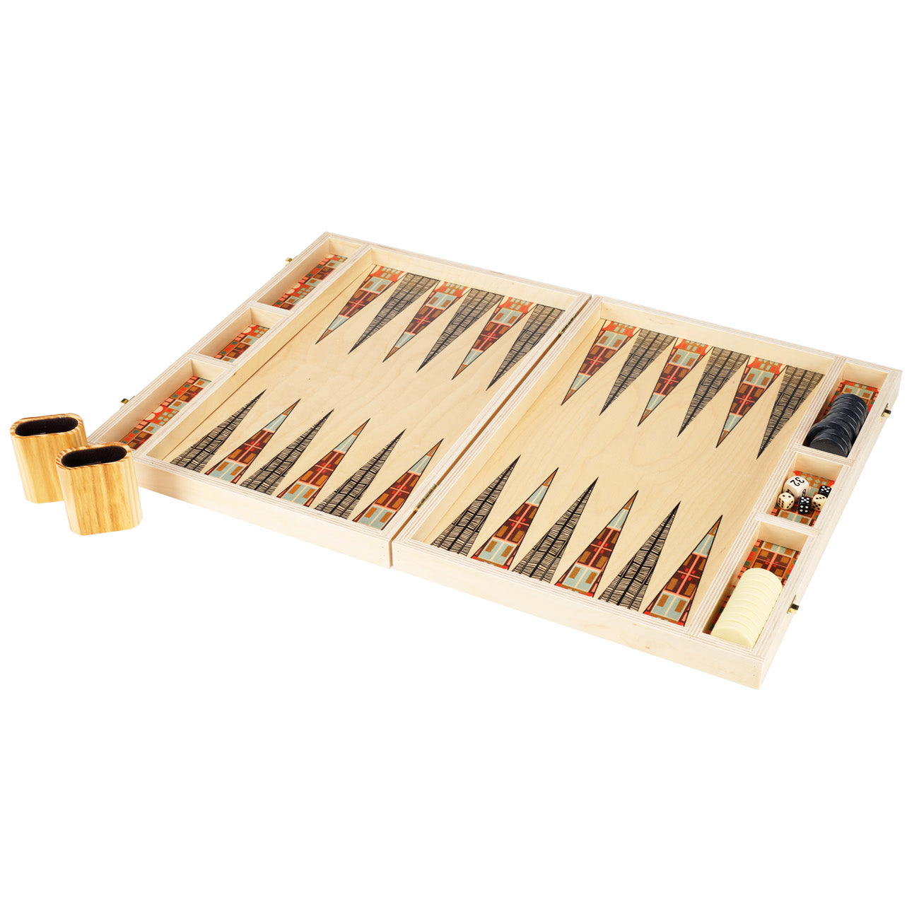 alexander peach tabletop backgammon set