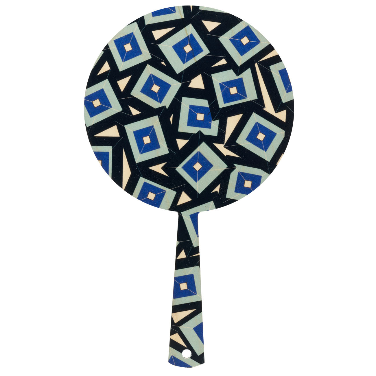 alma blue hand mirror