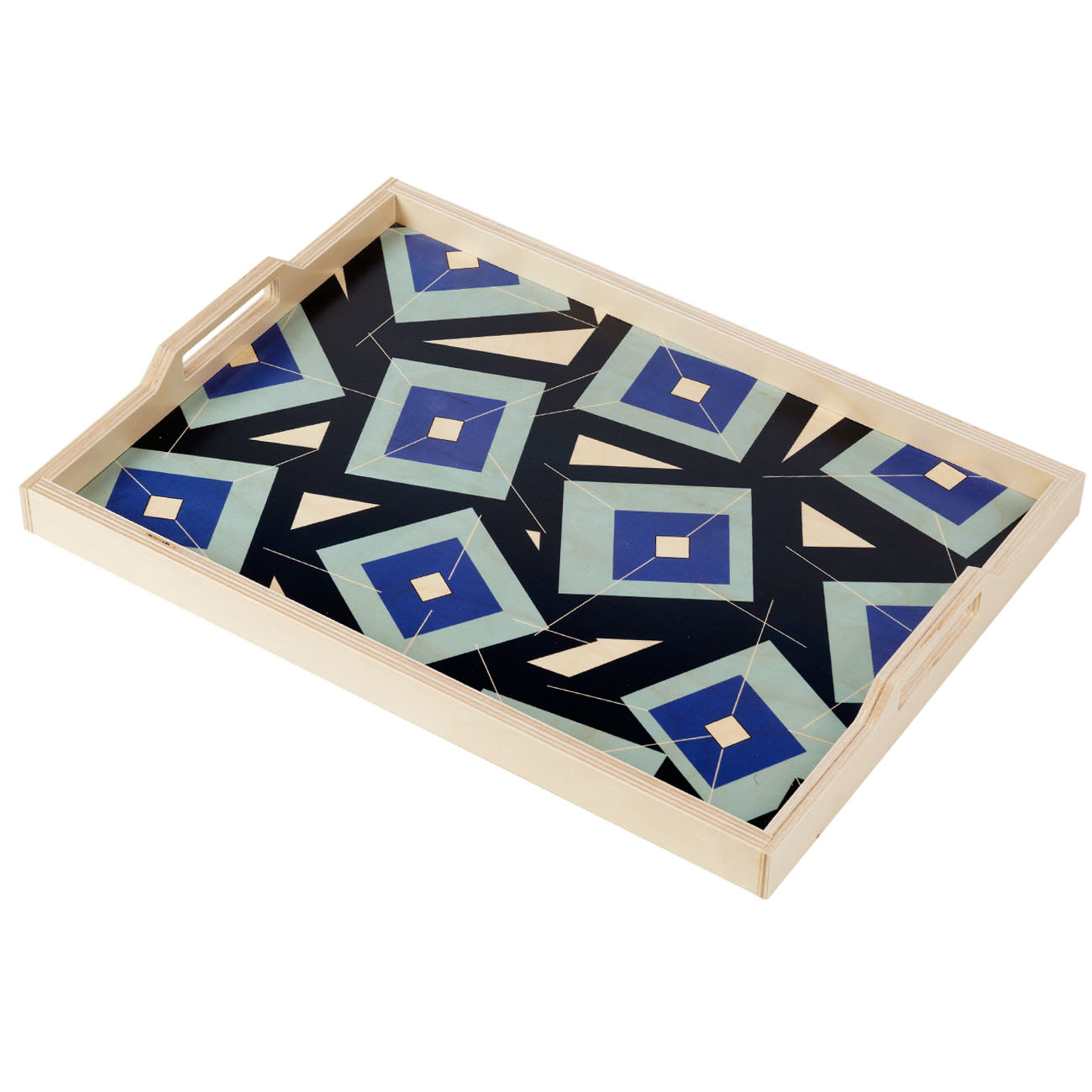 alma blue serving tray