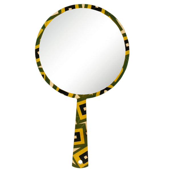 alma green hand mirror