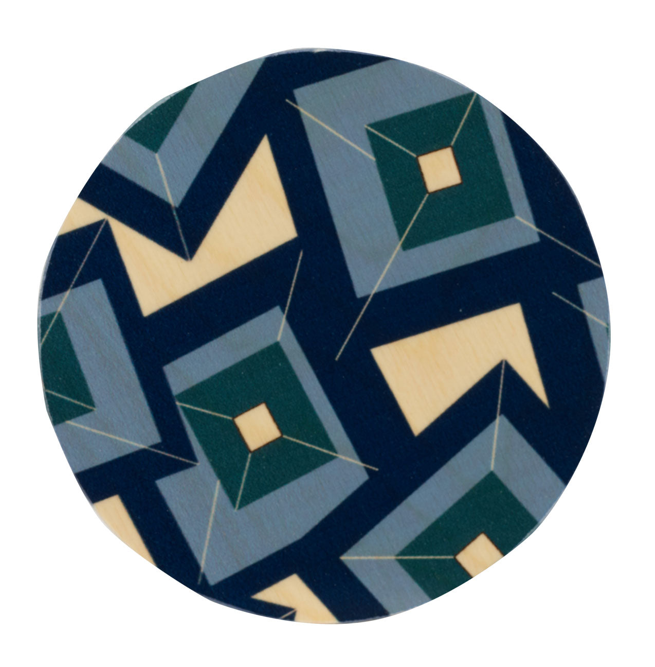 alma teal coasters, set of four