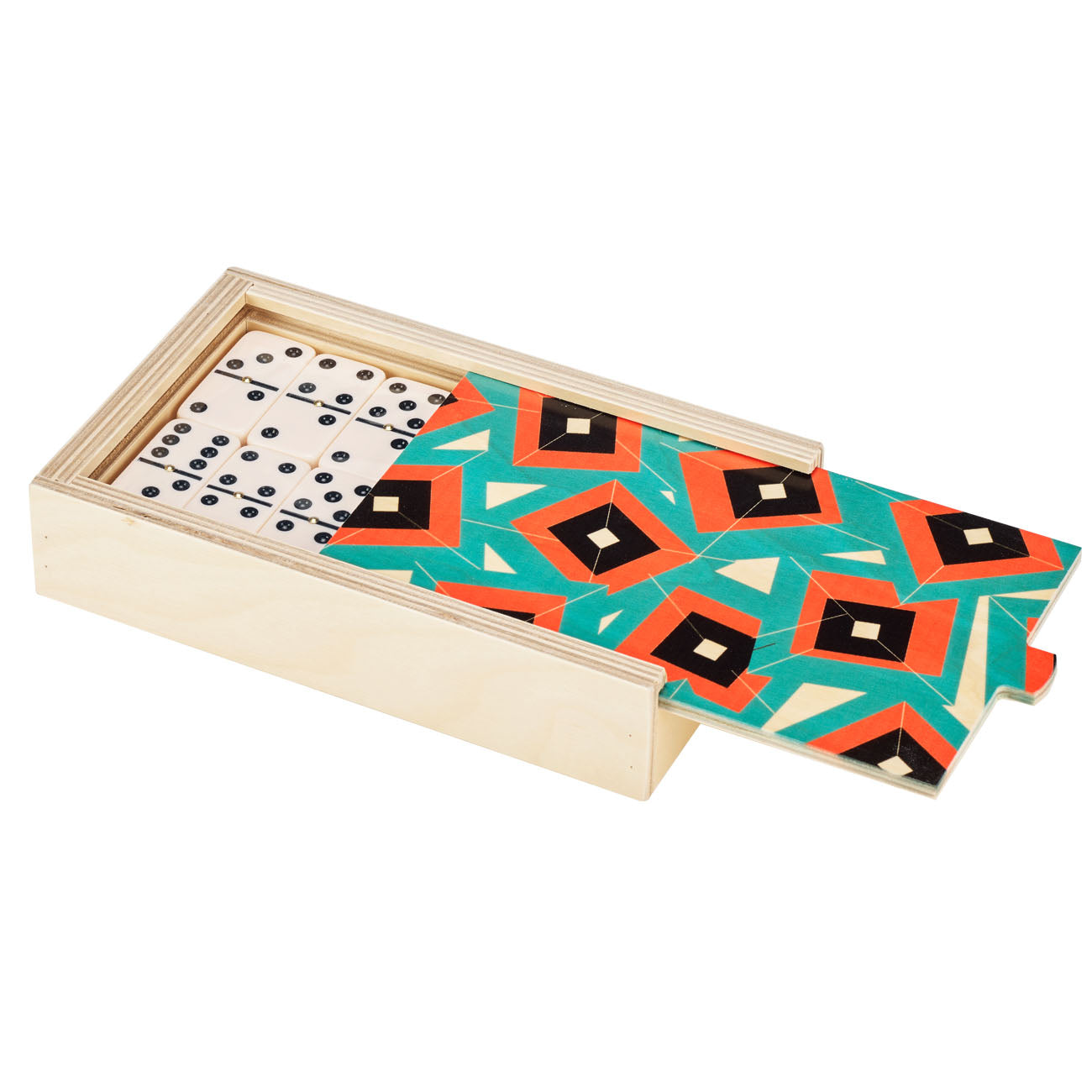 alma teal domino set