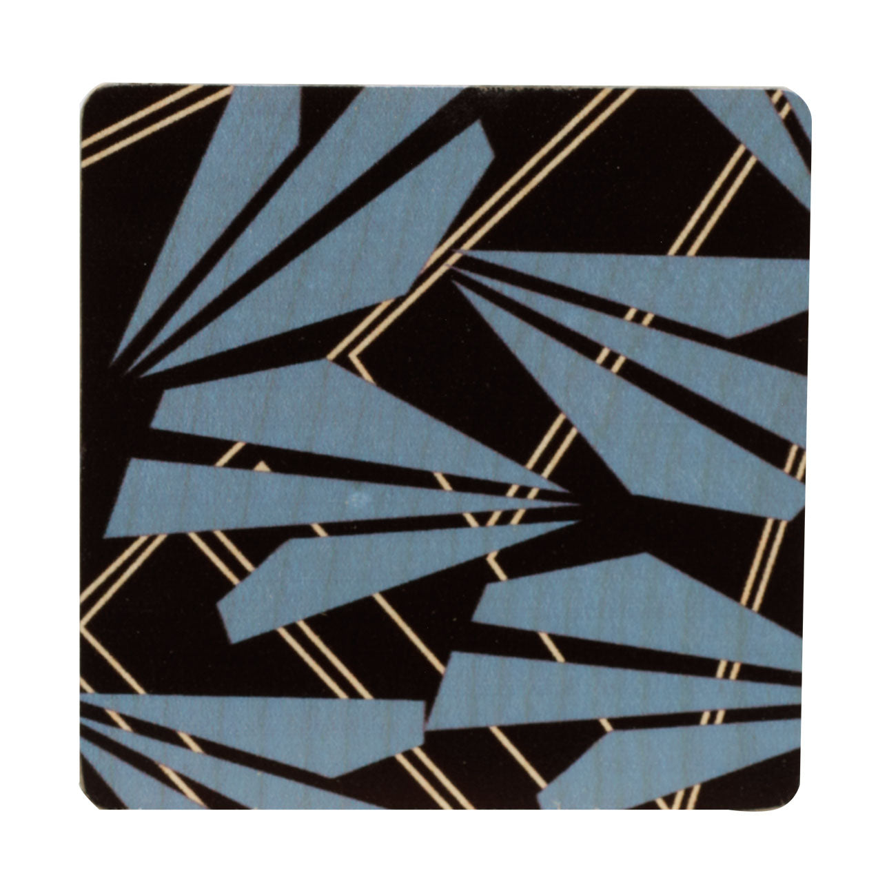 amelia black coasters, set of four