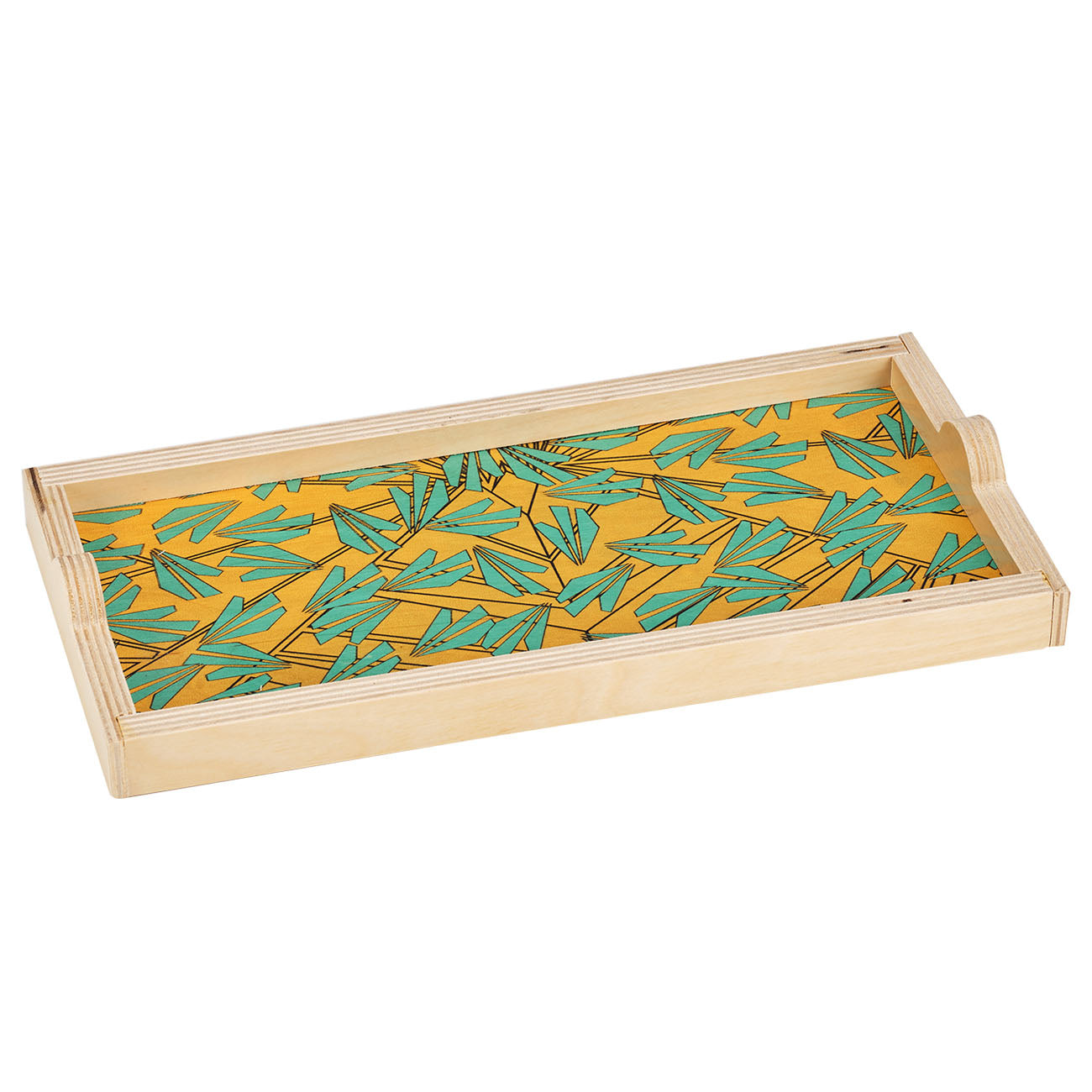 amelia yellow mini tray