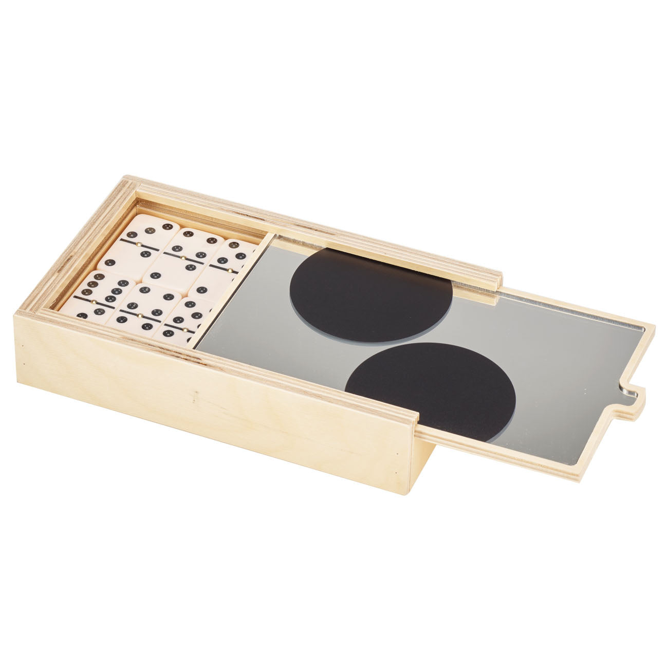 black dot MIRROR domino set- BRAND NEW!