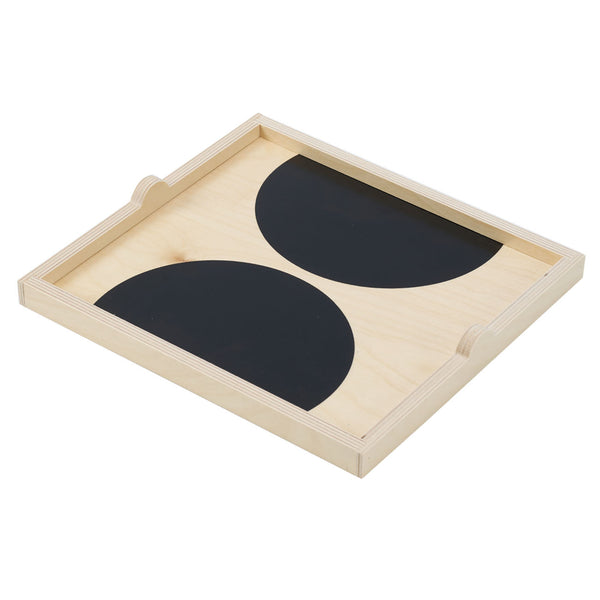 black dot square tray