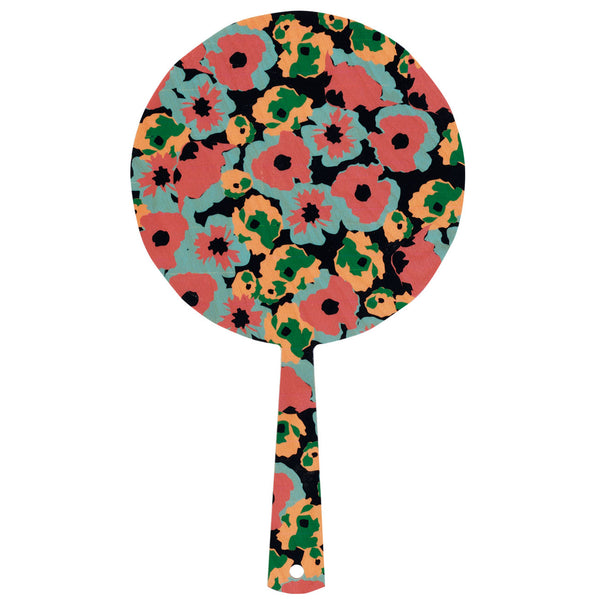 poppy black hand mirror