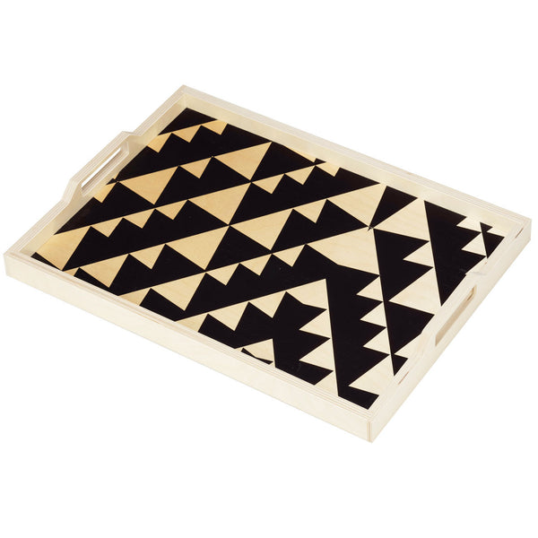 black triangle serving tray