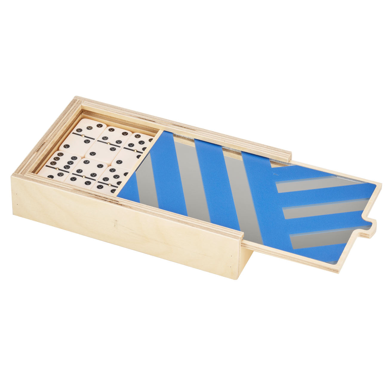 blue stripes MIRROR domino set - BRAND NEW!