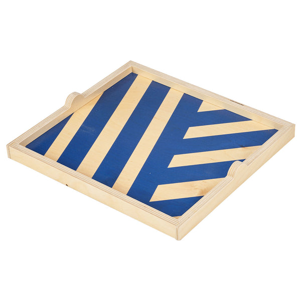 blue stripe square tray - NEW for Spring 2019