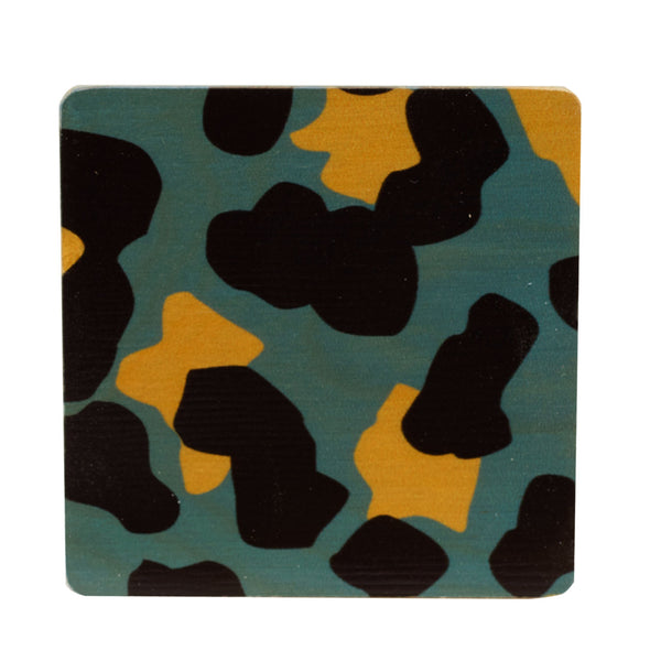 cheetah coasters, set of four