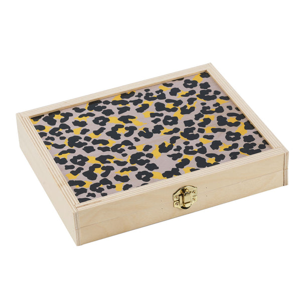 cheetah grey travel backgammon