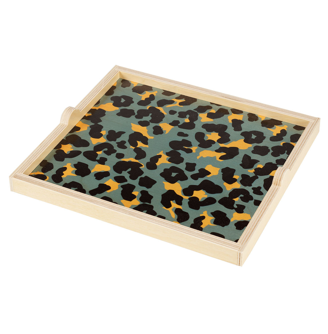 cheetah square tray