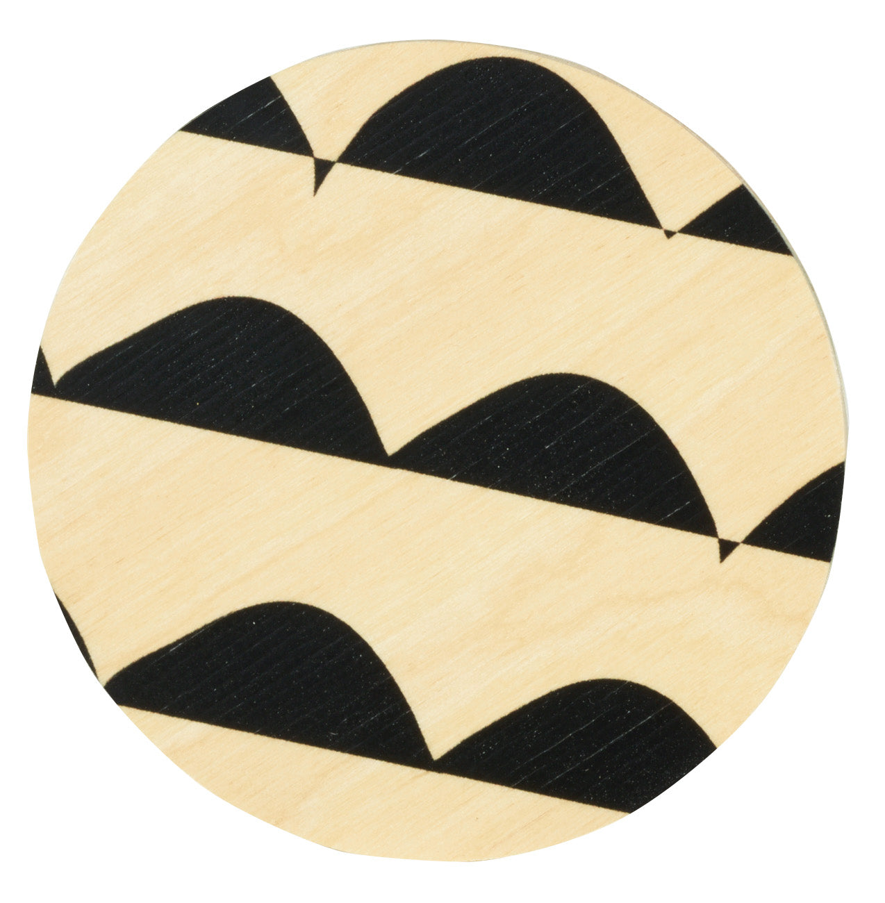 curves black coasters, set of four