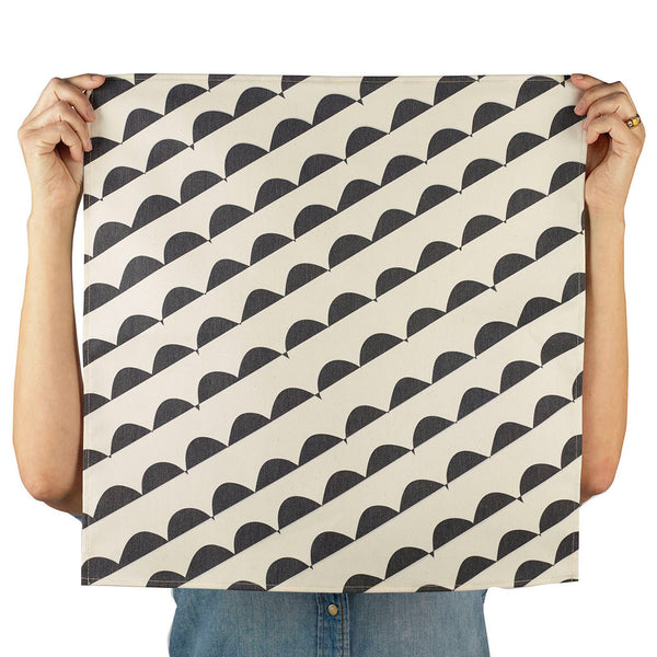 curves napkin (black), set of two