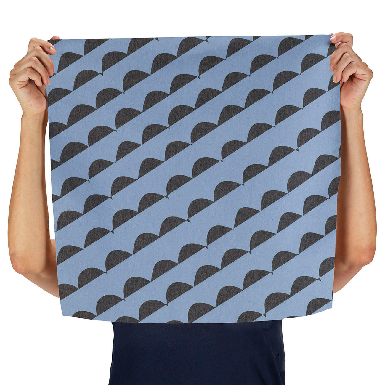 curves (blue) napkin, set of two