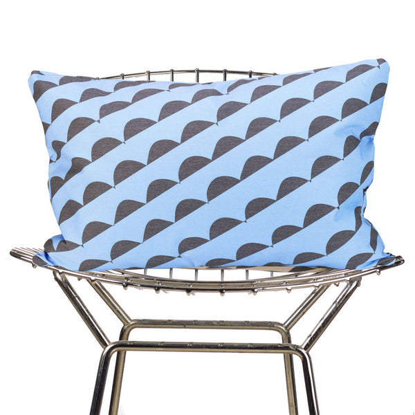 curves (blue) pillow
