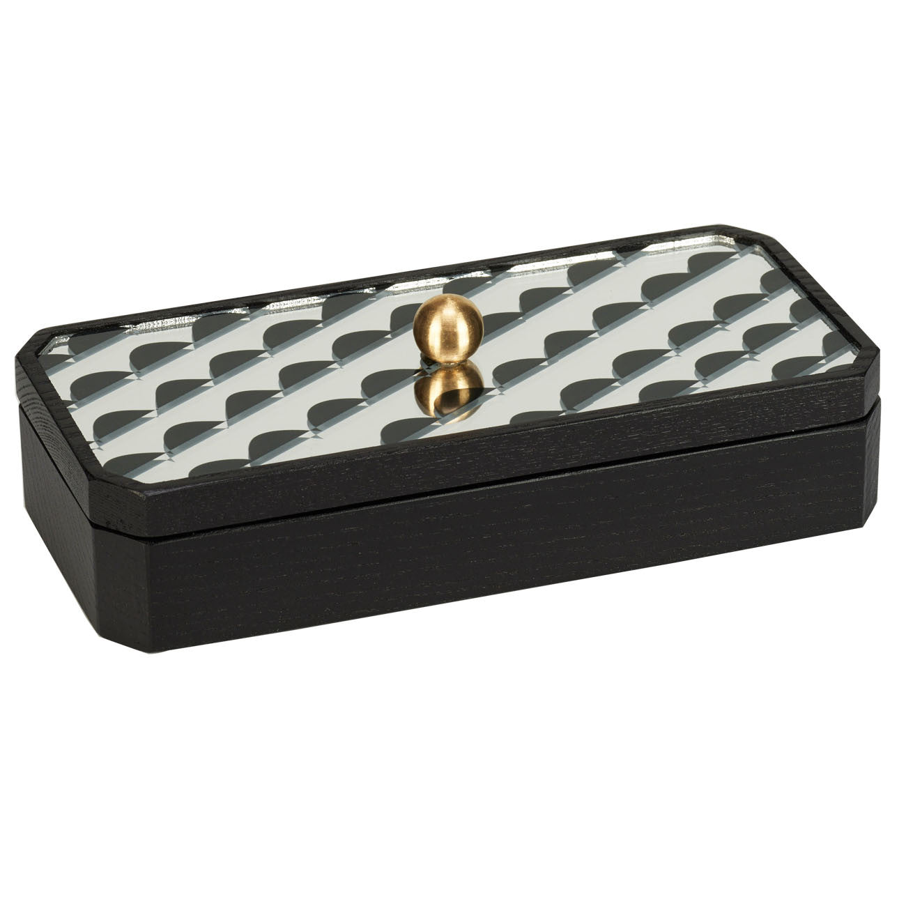 curves rectangle ash accent box in black