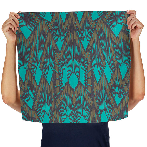 deco (teal) napkin, set of two