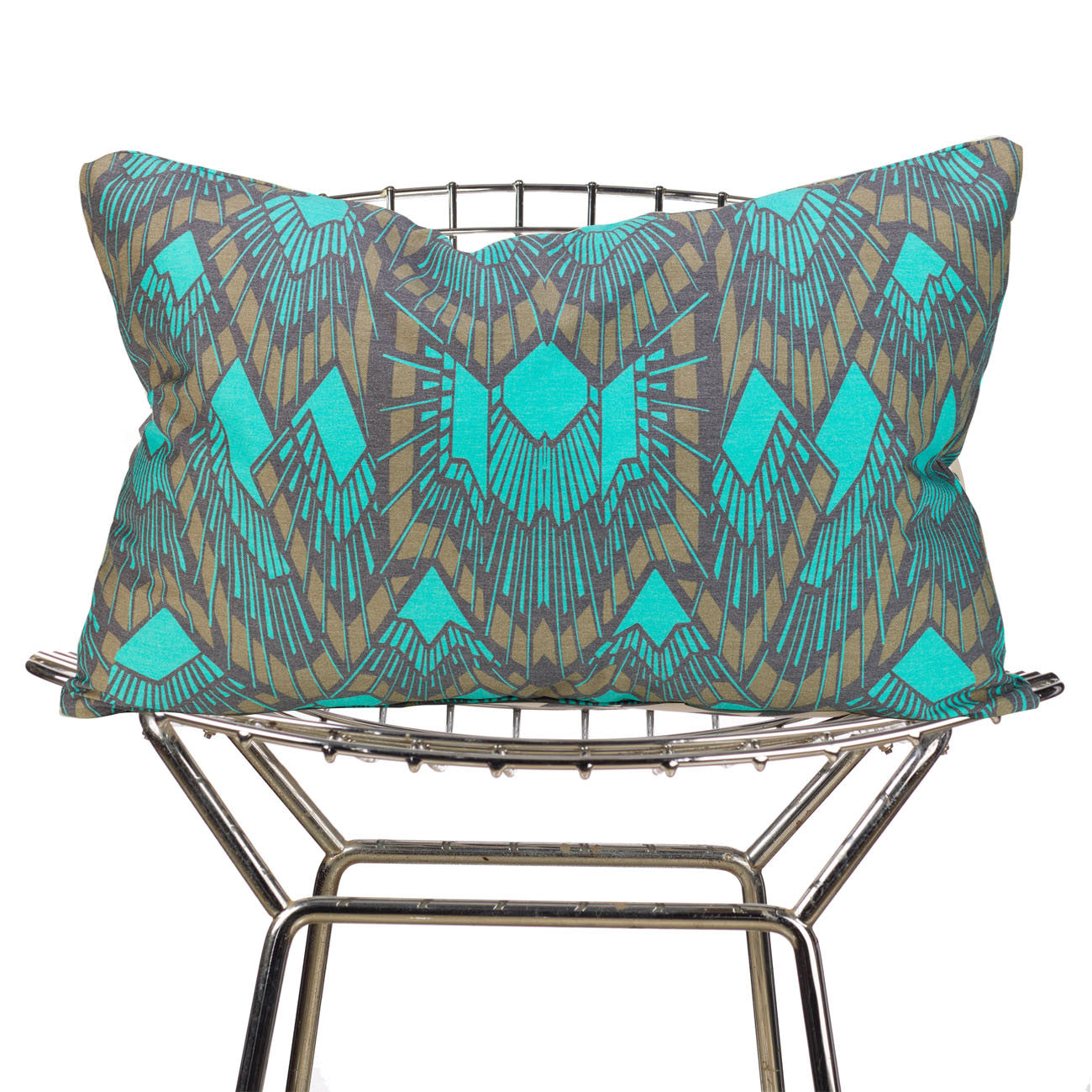 deco teal pillow