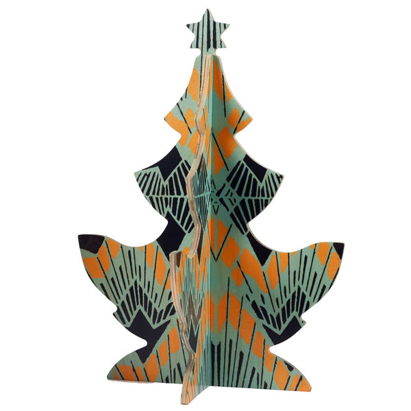 deco christmas tree table topper