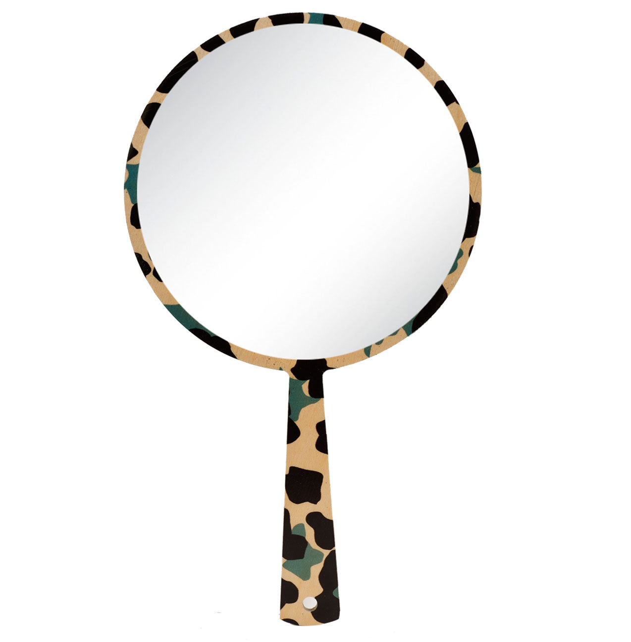 cheetah grey hand mirror