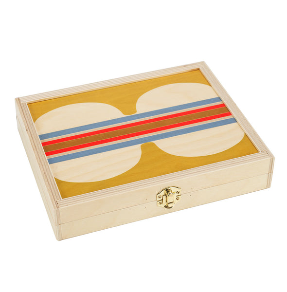 hitchcock yellow backgammon set